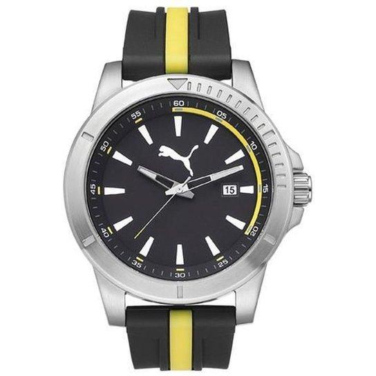 a93cf8d37eb71 Relógio Masculino Puma Analogico - Preto+Amarelo