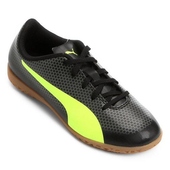 Chuteira Futsal Infantil Puma Spirit IT - Preto e Amarelo - Compre ... e72b96b297ce8