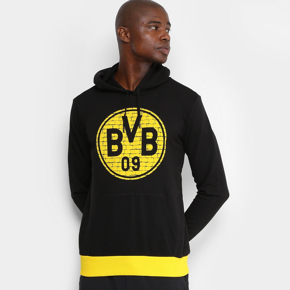 Moletom Borussia Dortmund Puma Fan Masculino