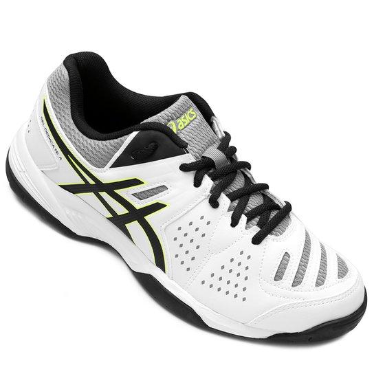 Tênis Asics Gel-Dedicate 4 A - Branco e Preto - Compre Agora  6d922f99c4340