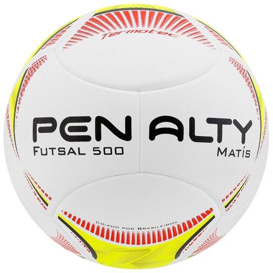 16503bc767444 Bola Penalty Matis 5 Futsal - Branco+Amarelo