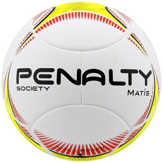 fbfa1af235f6c Bola Futebol Penalty Matis 5 Society - Branco+Amarelo