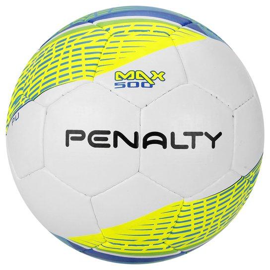 Bola Futebol Penalty Max 500 Termotec 5 Futsal - Branco+Amarelo 39796bb2064c3