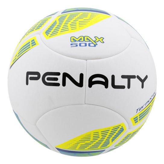 e93ca982b6b4c Bola Futebol Penalty Max 500 Termotec 5 Futsal - Branco+Amarelo