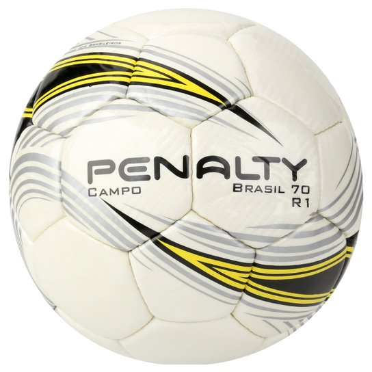 b6867dc8855d5 Bola Futebol Penalty Brasil 70 R1 4 Campo - Branco+Amarelo