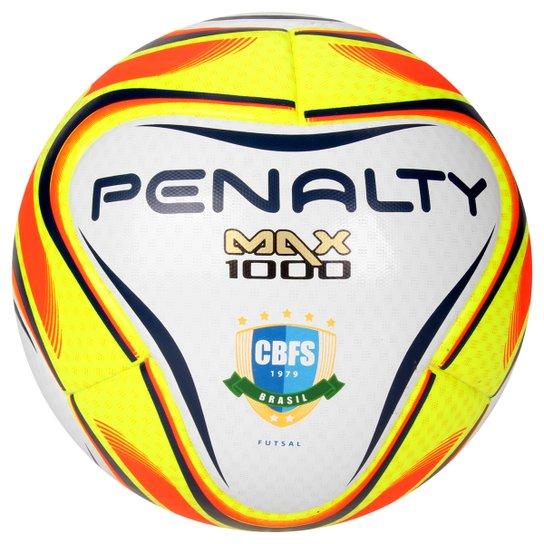 d4e97ae4c239a Bola Futsal Penalty Max 1000 6 - Branco+Amarelo
