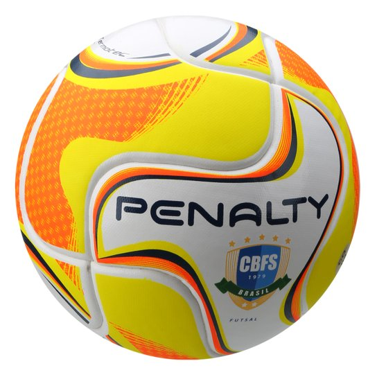 d0a437bf43174 Bola Futsal Penalty Max 100 Term VI - Branco+Amarelo