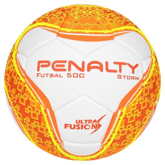 a9e071d3cc Bola Futsal Penalty Storm Ultra Fusion 6 - Branco+Laranja