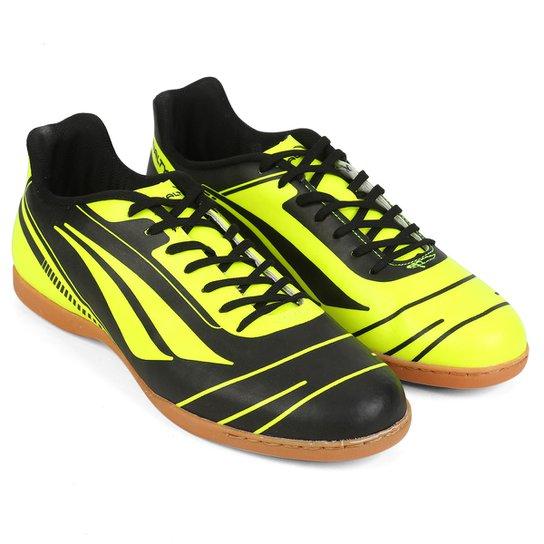 9dda636848 Chuteira Futsal Penalty Era 6 - Edição Limitada Masculina - Preto+Verde  Limão