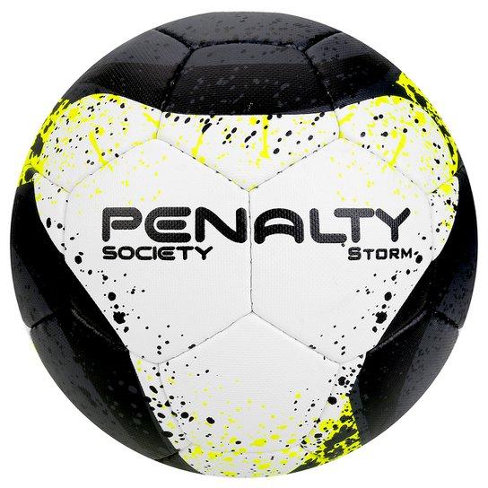 Bola Futebol Society Penalty Storm Com Costura à Mão 7 - Branco+Amarelo c4222e28f3c17