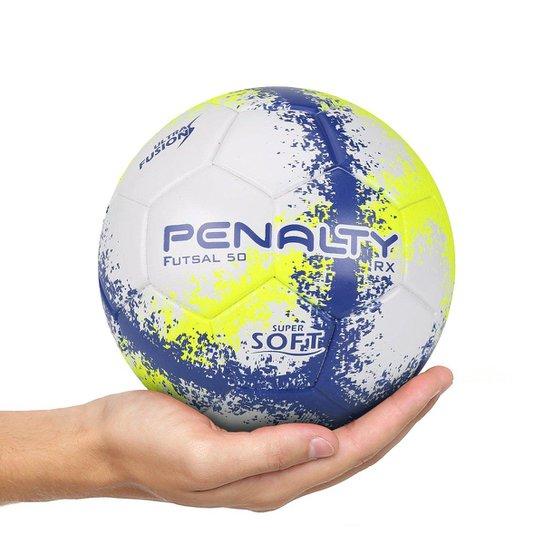 b1d9b0f05b Bola Futsal Penalty RX 50 R3 Fusion VIII - Branco e Amarelo - Compre ...