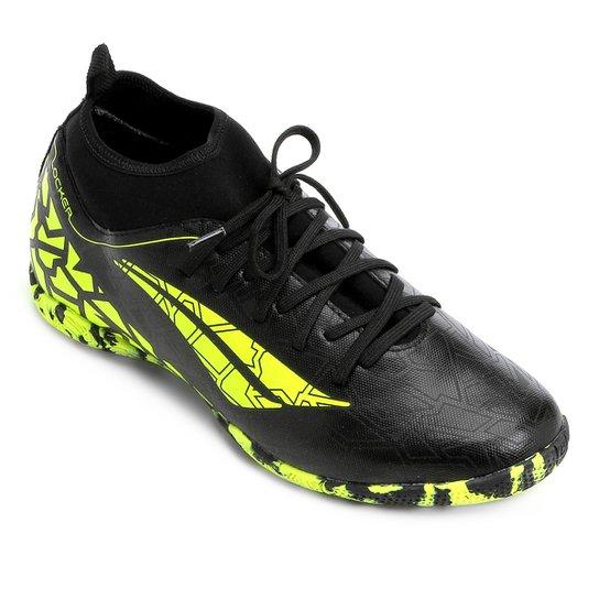 Chuteira Futsal Penalty Locker 7 - Preto e Amarelo - Compre Agora ... 9b0d9a968d84f