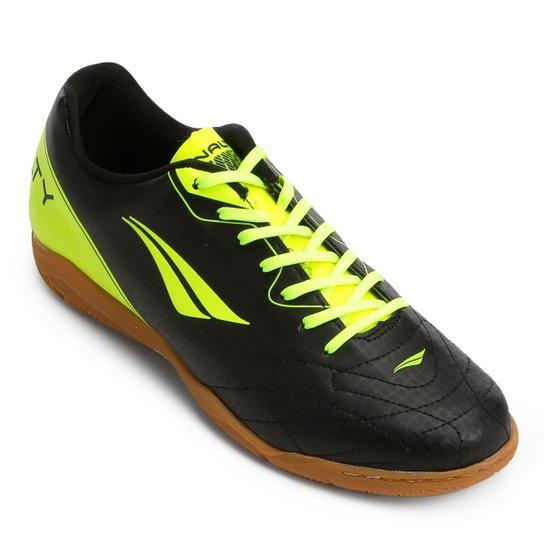 d252c06a5f Chuteira Futsal Penalty Matis VIII Masculina - Preto e Amarelo ...