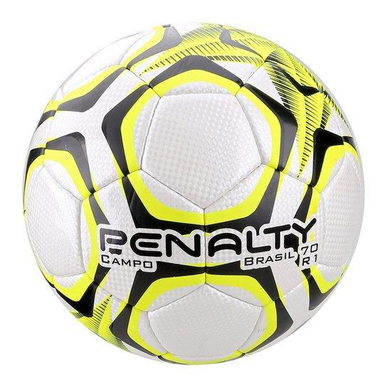 Bola de Futebol Campo Penalty Brasil 70 R1 LX - Branco e Amarelo ... e52b76a574d05