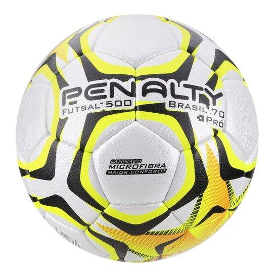 c5cc1247c313c Bola Futsal Penalty Brasil 70 500 Pró IX - Branco e Amarelo - Compre ...