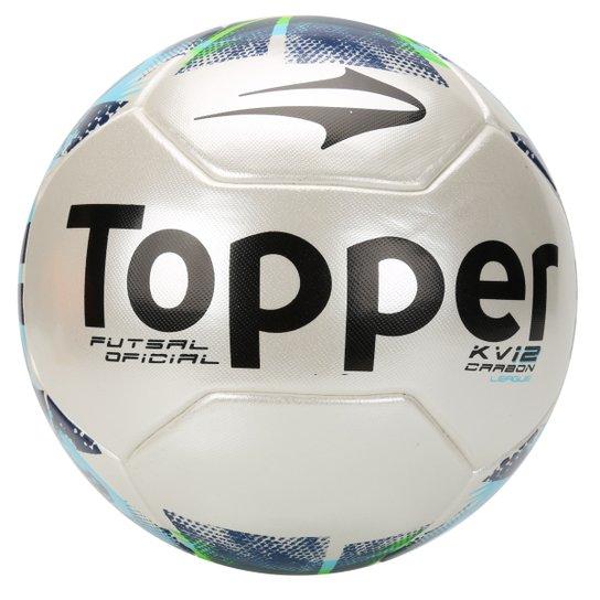 ae07572f3d666 Bola Futsal Topper KV Carbon League 2 - Branco+Marinho