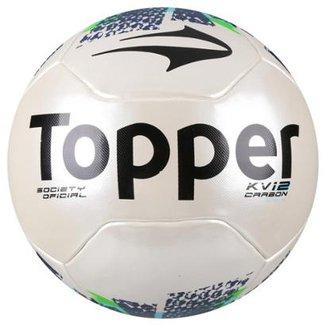 c5c0bff8795af Bola Futebol Society Topper KV Carbon League 2 Oficial