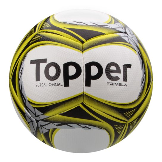 Bola Futsal Topper Trivela V12 - Branco e Amarelo - Compre Agora ... 31bd121a84427