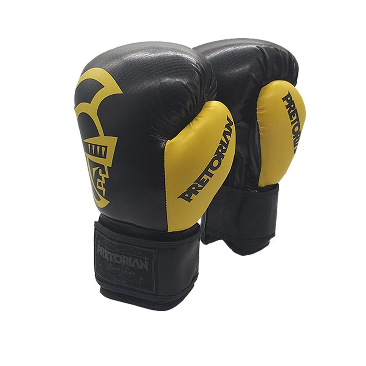 Luva De Boxe e Muay Thai Pretorian Black 14 Oz
