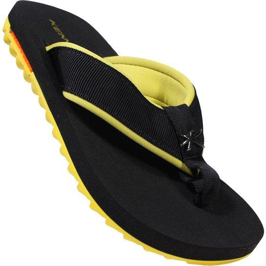 28f739b90 Chinelo Kenner Kivah Cushy - Preto e Amarelo   Netshoes