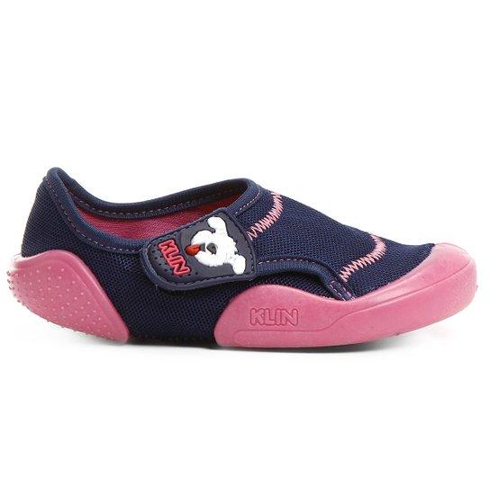 c3c9459a43 Sapato Klin New Confort Infantil - Marinho+Pink