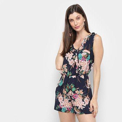 Macaquinho Lily Fashion Estampado Feminino