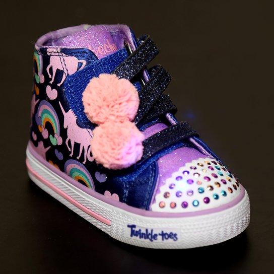 a0362cc84 Tênis Infantil Skechers Shuffles Dreamin Day Feminino - Marinho e ...