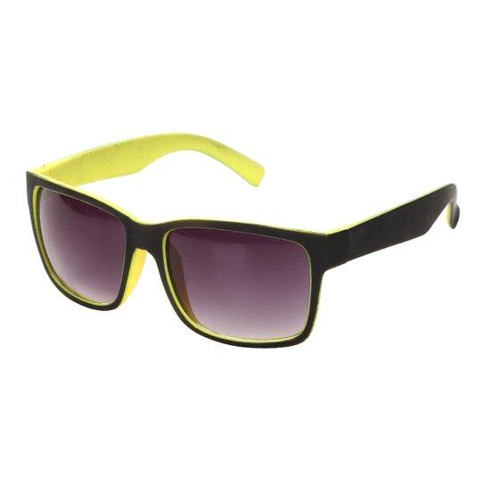 9b02c0d6a Óculos de Sol Quadrado King One BT9007 Masculino - Preto+Amarelo