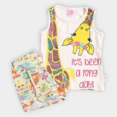 Conjunto Infantil For Girl Estampa Girafa Feminino