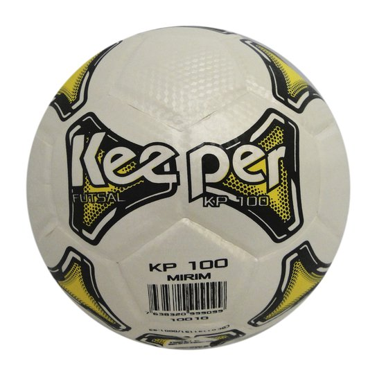 Bola Futsal Keeper 100 - Branco e Amarelo - Compre Agora  c2dc00925d03f