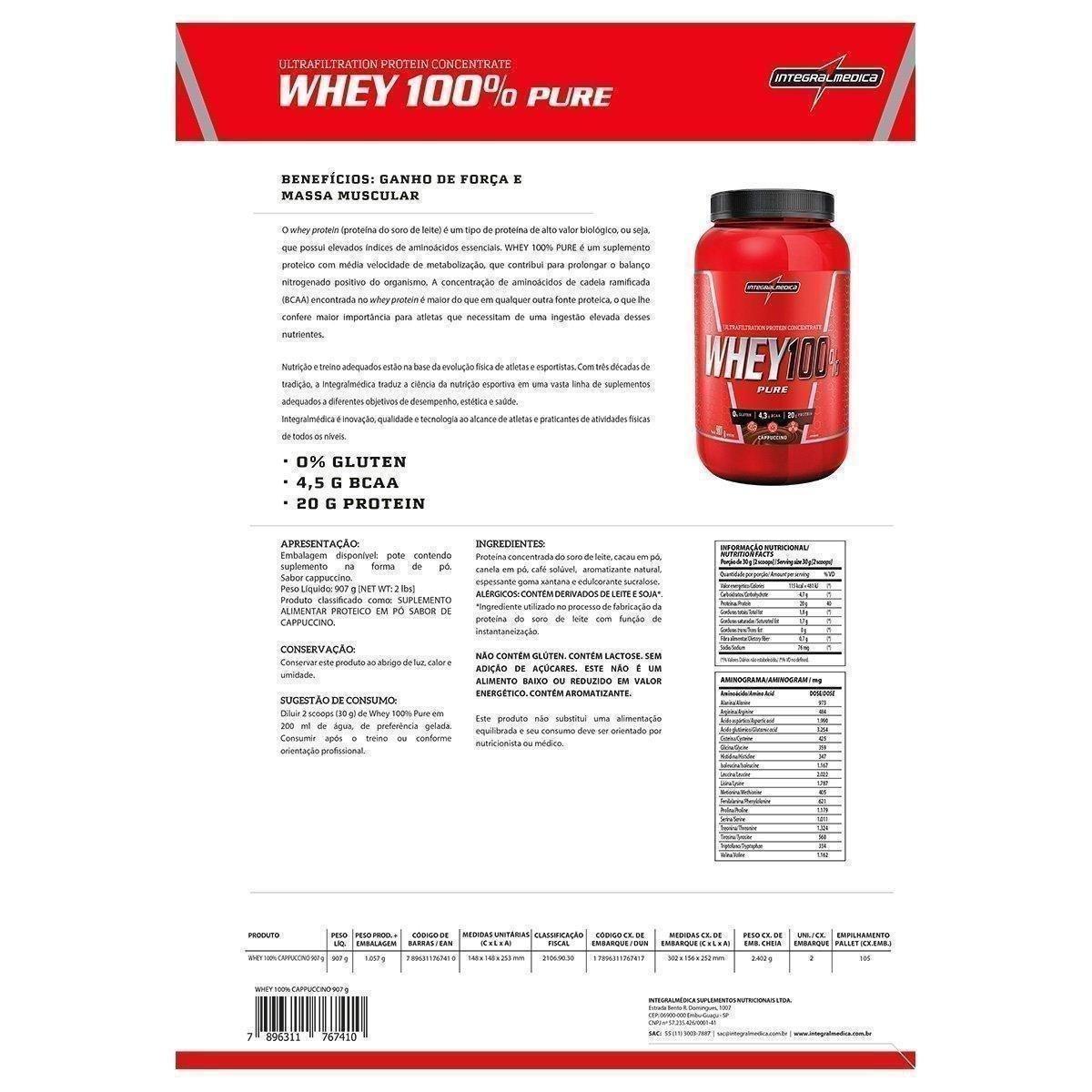 Whey 100% Integralmedica 907G - 1