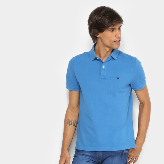Camisa Polo Tommy Hilfiger Básica Masculina - Azul - Compre Agora ... eadf3497e0c35