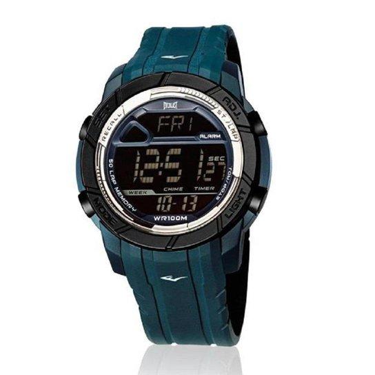 5d0d8267953 Relógio Pulso Everlast Action E701 Digital Pulseira Silicone - Azul Petróleo