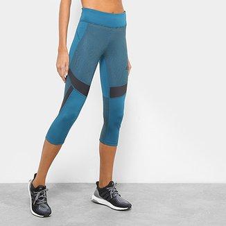 51ab1de399 Calça Corsário Adidas D2M Optic Stripe Feminina
