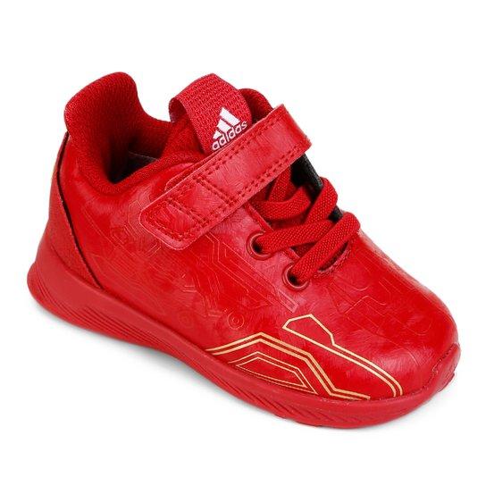 cfa574aa23f Tênis Infantil Adidas Rapidarun Avengers - Vermelho e Dourado ...