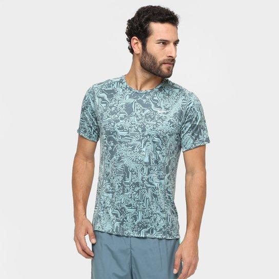 bdde850fb5 Camiseta Nike Dri-Fit Miler SS Print Masculina - Compre Agora