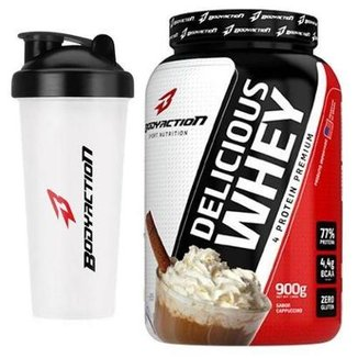 Kit Delicious Whey BodyAction 900g + Coqueteleira