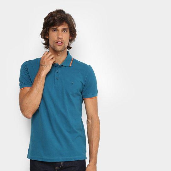 Camisa Polo Forum Piquet Frisos Color Masculina - Azul Petróleo ... 5050c985e302d