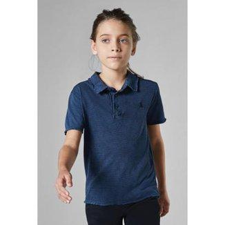 e39afbb438 Camisa Polo Infantil Listra Lavado Malha Reserva Mini Masculina