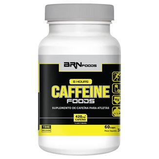 8 Hours Caffeine 60 Cáps - BR Nutrition Foods