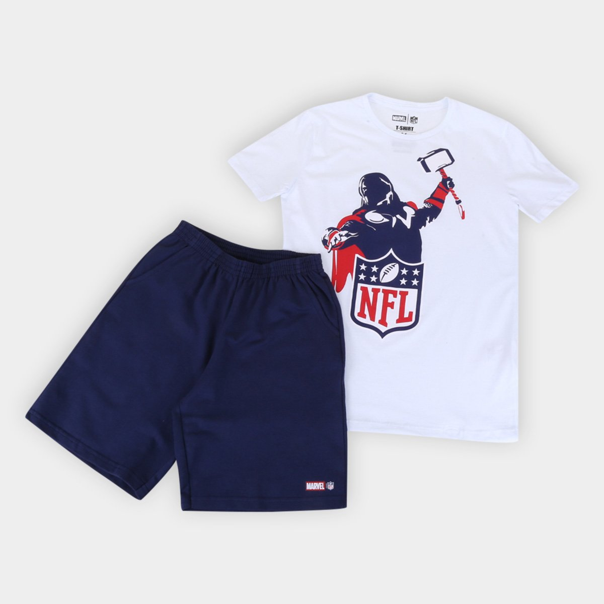 Conjunto Juvenil NFL Marvel Masculino