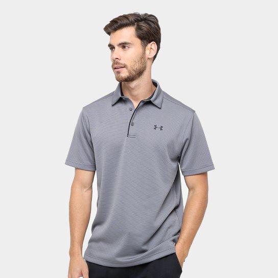 Camisa Polo Under Armour Tech Masculina - Grafite e Preto - Compre ... a2b587bef530f