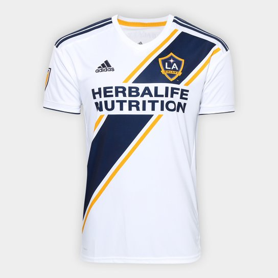 dfbeafce88 Camisa Los Angeles Galaxy Home 19 20 s n° Torcedor Adidas Masculina ...