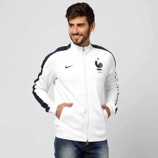 Jaqueta Nike Seleção França Authentic - Branco+Marinho fc902a19db41b
