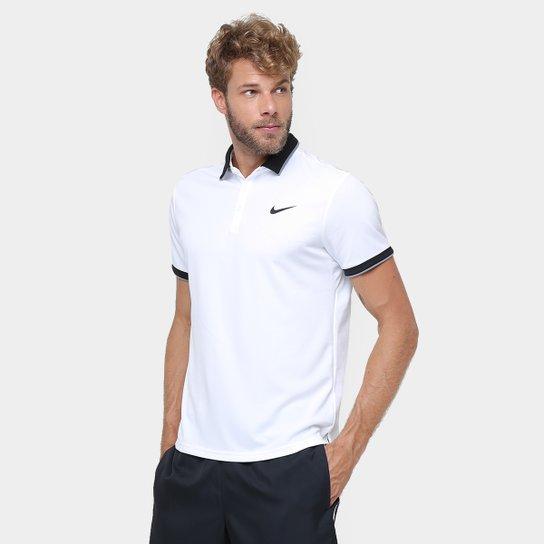 Camiseta Polo Nike Team Masculina - Branco e Marinho - Compre Agora ... e35f8bddeda70