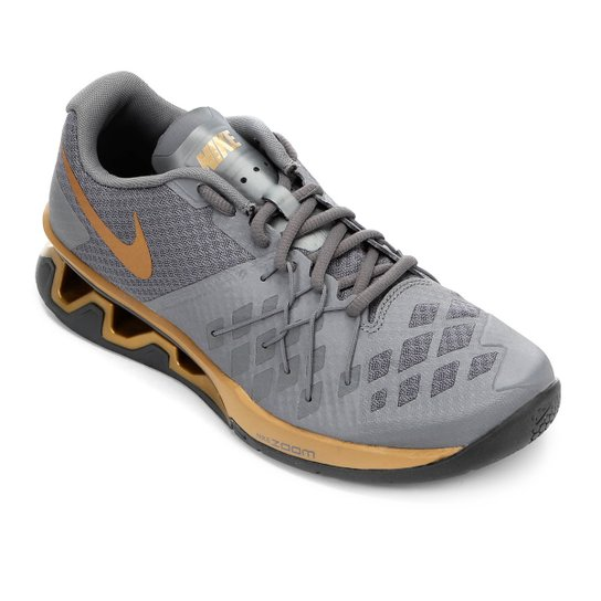 085f3aee949 Tênis Nike Reax Lightspeed 2 Masculino - Cinza e Dourado - Compre ...