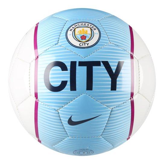 8a4bbe98e1f0d Mini Bola Manchester City Nike - Branco+Azul Claro