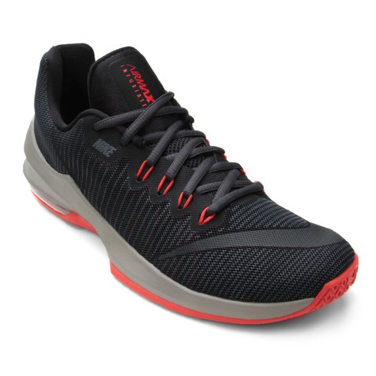 4600e3b5734 Tênis Nike Air Max Infuriate 2 Low Masculino - Preto e Vermelho ...