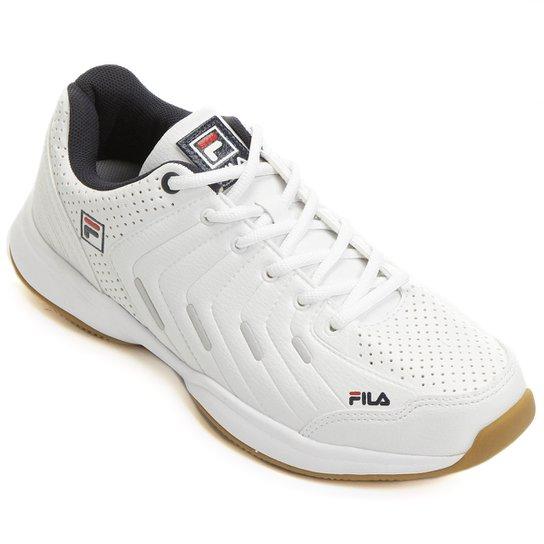 8ff8956f884 Tênis Fila Lugano 5.0 1 Masculino - Branco e Marinho - Compre Agora ...