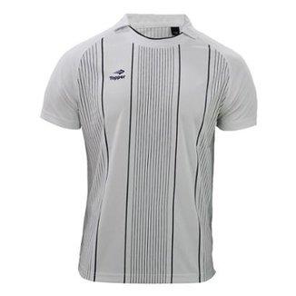 f91a89871356a Camisa Polo Topper Futebol Stripes II Masculina